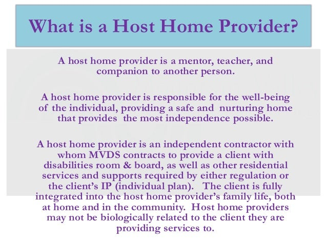 Host home provider pp 5.13 Slide 3