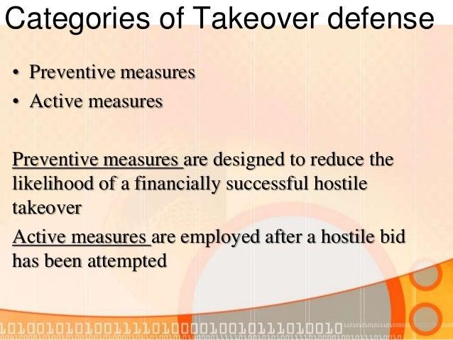 hostile takeover defenses