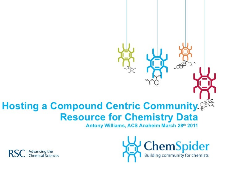 Hosting a Compound Centric Community Resource for Chemistry Data Antony Williams, ACS Anaheim March 28 th  2011