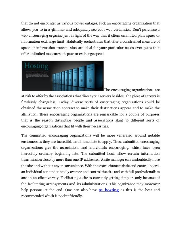 Hosting necessity and its great advantages Slide 2