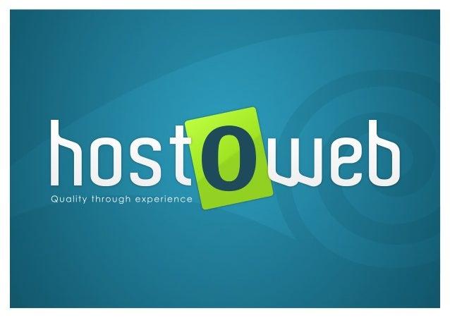 hostO web  Quality through experience