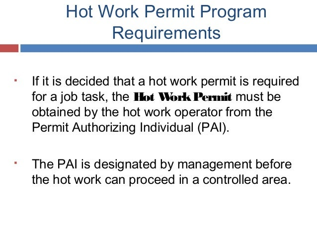Hot work permit program safety training by unc hot work permit pronofoot35fo Image collections