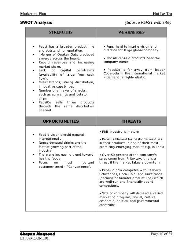 A marketing plan for lipton ice tea marketing essay