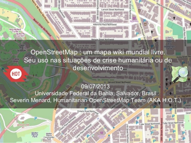 openstreetmap um mapa wiki mondial livre seu uso nas situa es d. Black Bedroom Furniture Sets. Home Design Ideas