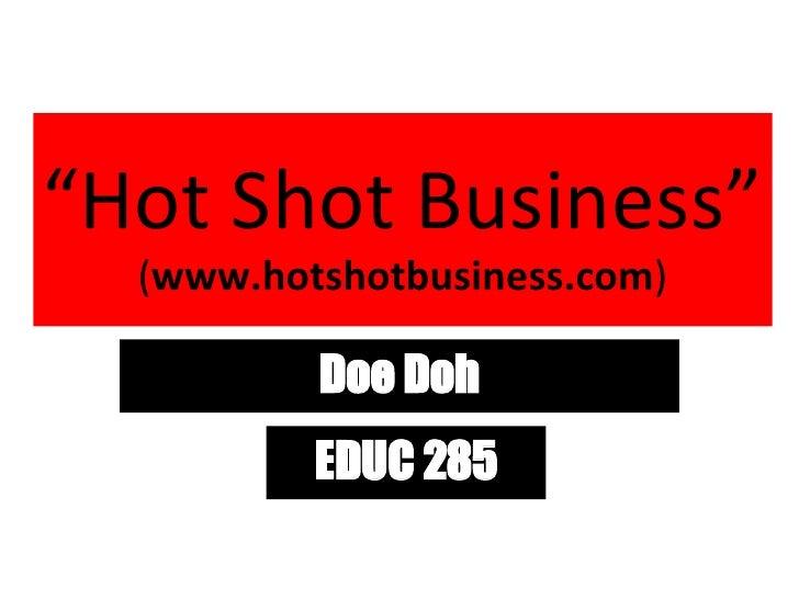 hot shot business