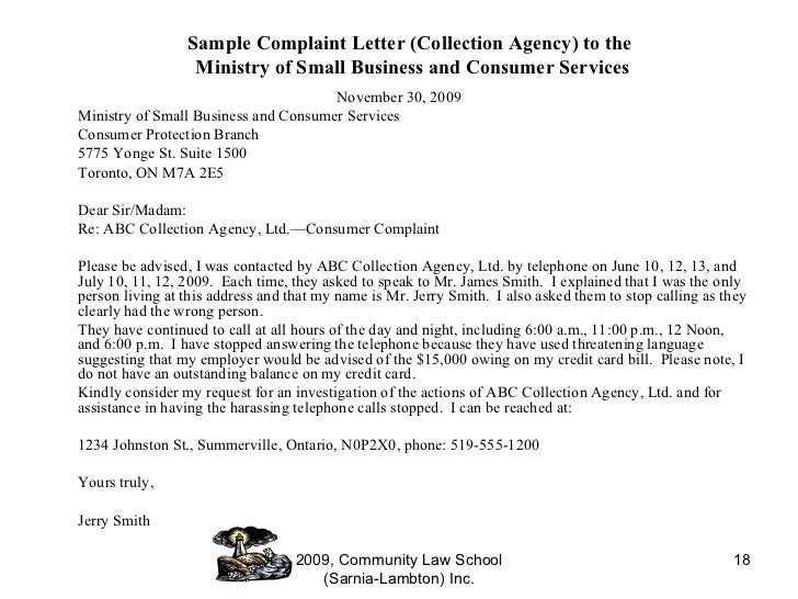 consumer complaint letter hot topics in consumer protection collection agencies webinar