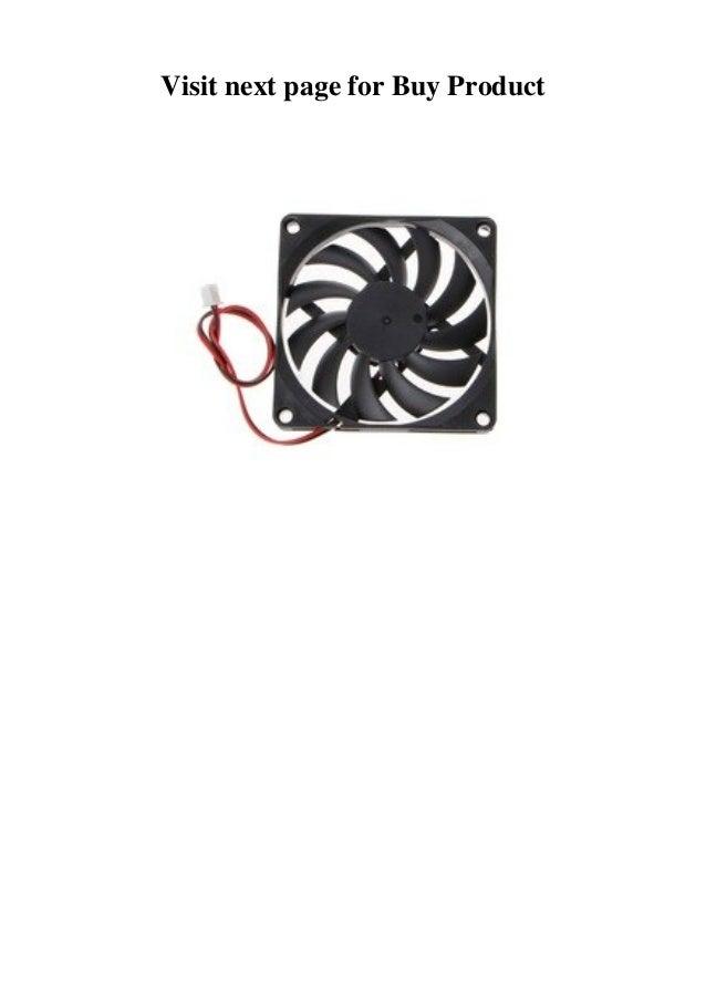 2-Pin 80x80x10mm 24V PC Computer CPU System Heatsink Brushless Cooling Fan 8010