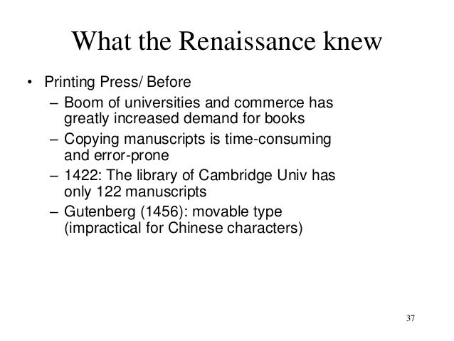 the renaissance vs the industrial revolution The rise, fall, and renaissance of classical liberalism 0 views  the industrial revolution transformed the life of man as nothing had since the neolithic age .