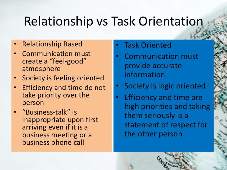 task oriented and relationship behavior
