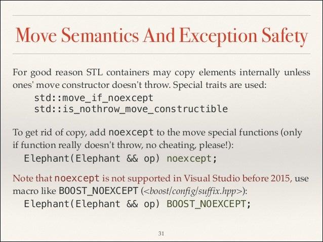 Performance Gains Through C11 Move Semantics  Embedded Use
