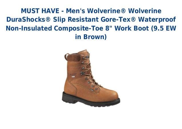 "MUST HAVE - Mens Wolverine® WolverineDuraShocks® Slip Resistant Gore-Tex® WaterproofNon-Insulated Composite-Toe 8"" Work Bo..."