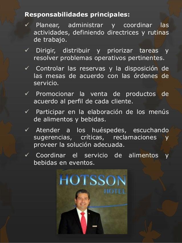 Hotel for Manual de procedimientos de alimentos y bebidas de un hotel