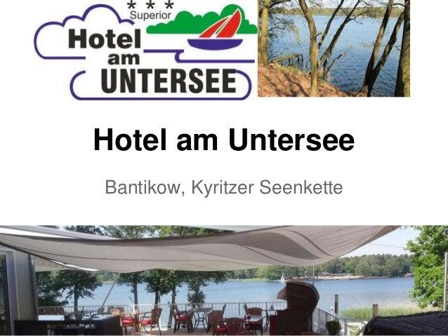 Hotel am Untersee Bantikow, Kyritzer Seenkette