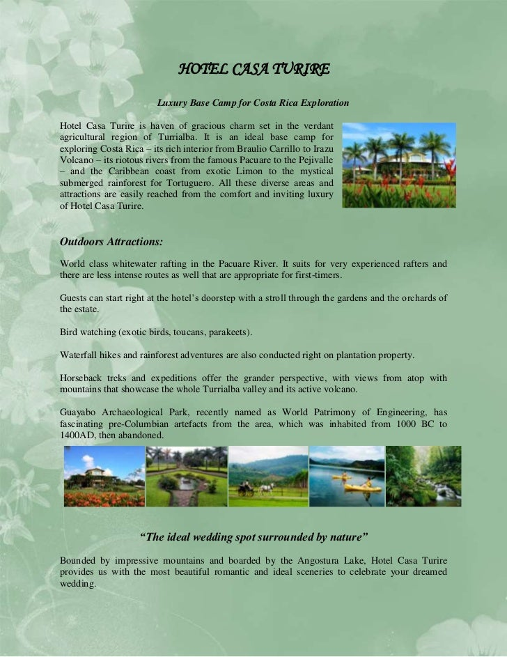 HOTEL CASA TURIRE<br />Luxury Base Camp for Costa Rica Exploration<br />433387545085Hotel Casa Turire is haven of gracious...