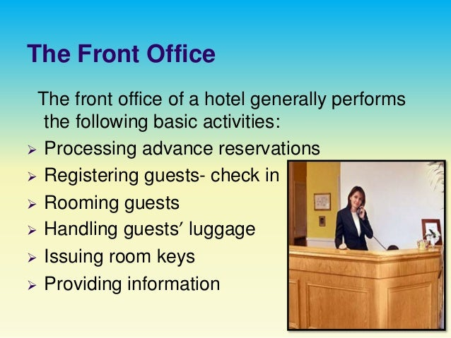 Hotel Front Office Department