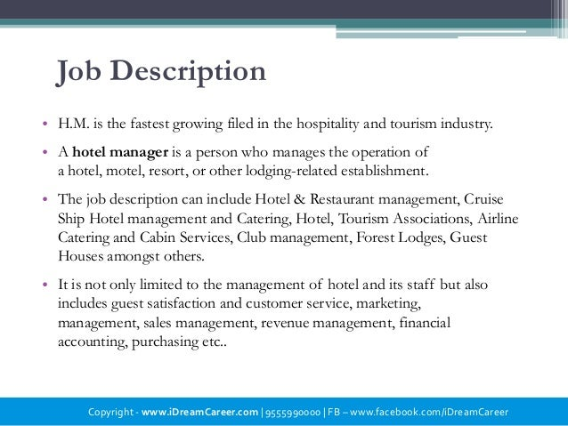 Hotel Management – Hotel Motel Management Jobs