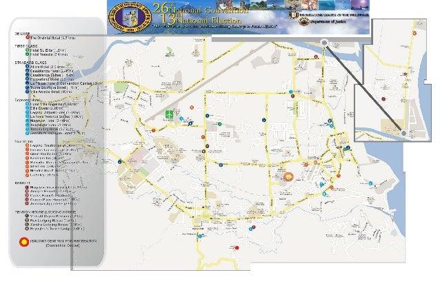 PLP 2014 Legazpi City Hotel map
