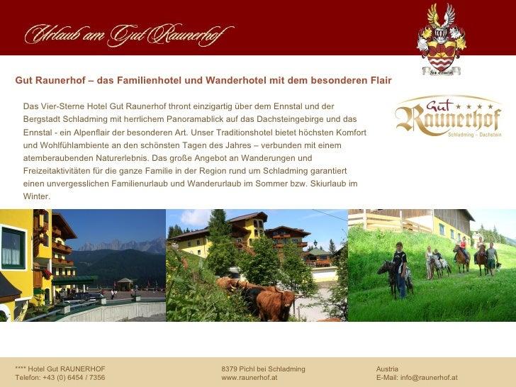 Urlaub im Hotel Raunerhof in Schladming, Österreich in Ski amadé - direkt neben der Piste Slide 2
