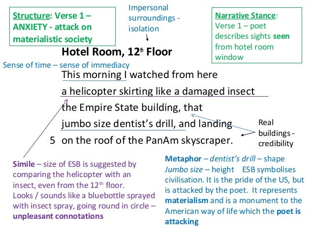 Hotel room 12th floor poem essay with thesis