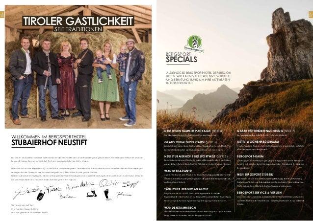 2 Seite NEU! sEVEN SUMMITS PACKAGE! (Seite 8) Für alle begeisterten Gipfelstürmer inklusive Bergführer gratis stubai super...