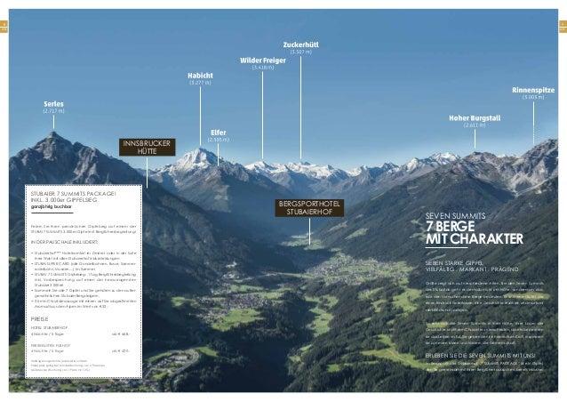 9 Seite 8 Seite Sieben starke Gipfel Vielfältig . Markant . Prägend Größe zeigt sich auf verschiedene Arten. Bei den Seven...