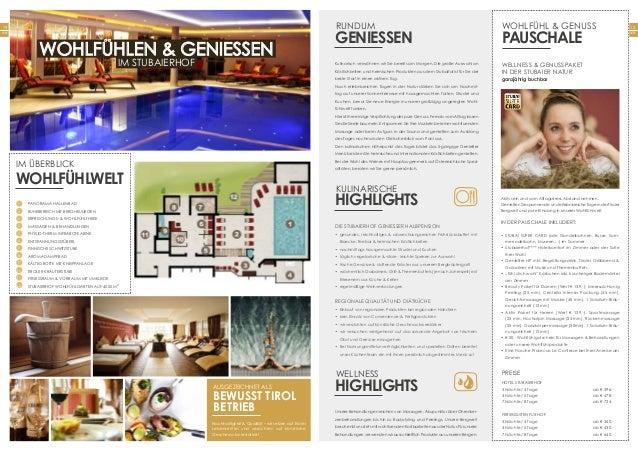 13 Seite 12 Seite Wohlfühlen & Geniessen im Stubaierhof Panorama Hallenbad Ruhebereich mit BERGHEULIEGEN Erfrischungs- & W...