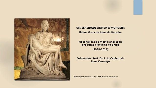 UNIVERSIDADE ANHEMBI MORUMBI Ildete Maria de Almeida Perezim Hospitalidade e Morte: análise da produção científica no Bras...
