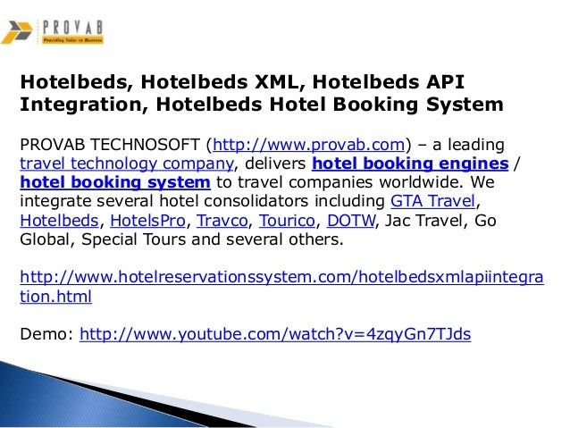 Hotelbeds, Hotelbeds XML, Hotelbeds API Integration