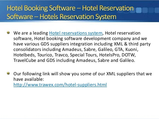 We are a leading Hotel reservations system, Hotel reservation software, Hotel booking software development company and we ...