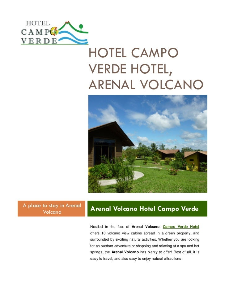 HOTEL CAMPO                            VERDE HOTEL,                            ARENAL VOLCANOA place to stay in Arenal    ...