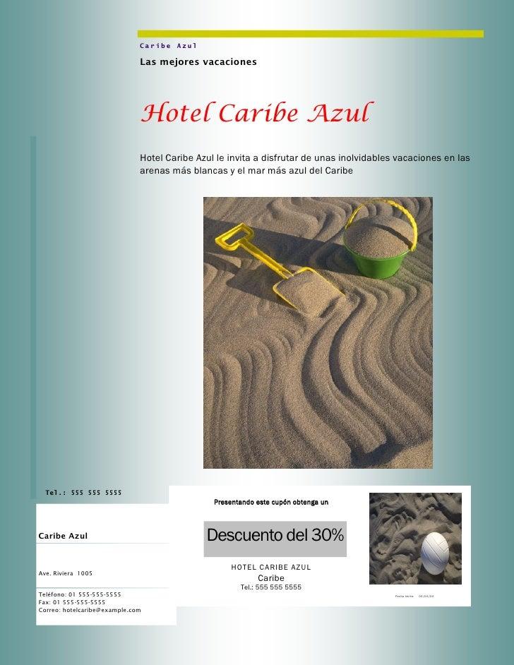 Caribe Azul                              Las mejores vacaciones                              Hotel Caribe Azul            ...
