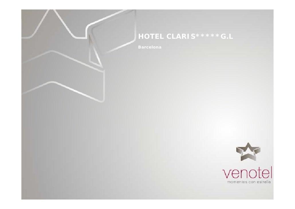 HOTEL CLARIS*****G.L Barcelona