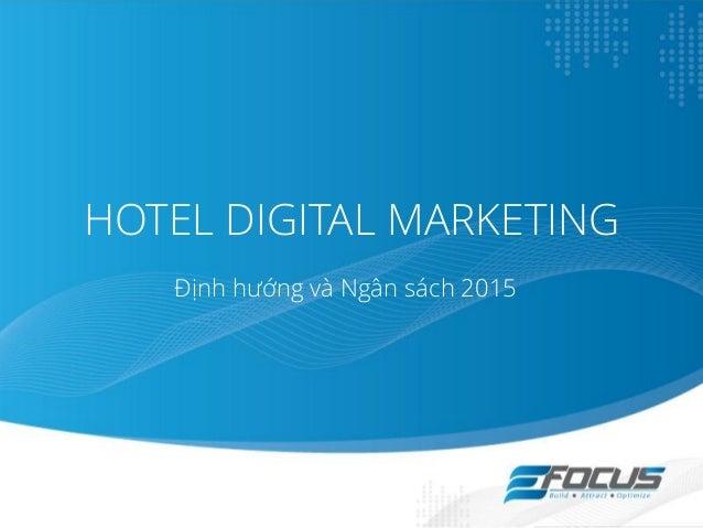 K Ho Ch Ti P Th Kh Ch S N Hotel Internet Marketing 2015