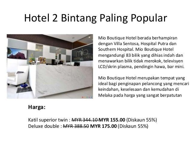 Di Melaka Dengan Harga Budget 2 Hotel