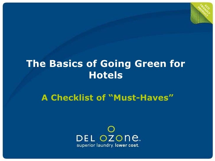Hospitality studies hotels going green