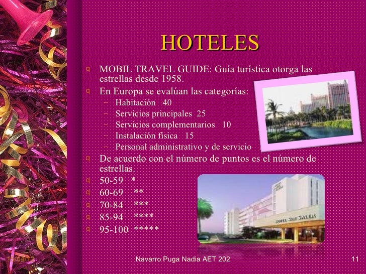 Tipo de hoteles for Tipos de servicios de un hotel