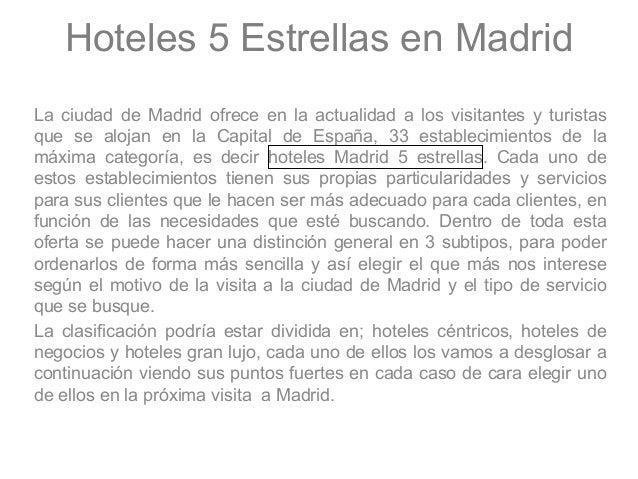 Hoteles 5 estrellas madrid for Listado hoteles 5 estrellas madrid