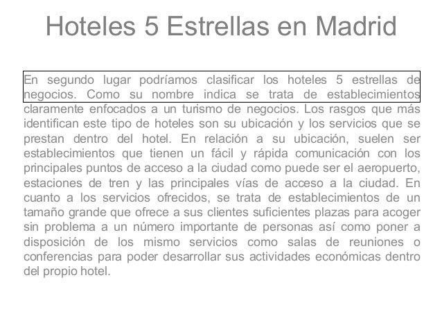 Hoteles 5 estrellas madrid - Hoteles cinco estrellas en madrid ...