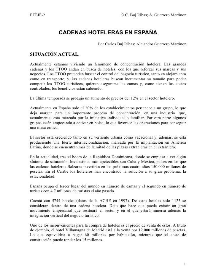 ETEIF-2                                              © C. Buj Ribas; A. Guerrero Martínez                CADENAS HOTELERAS...