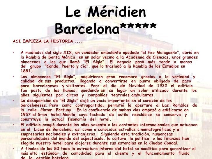 le mridien barcelona