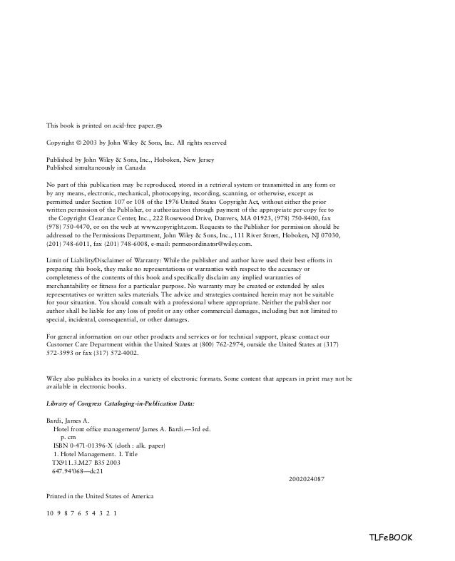 cover letter hospitality management