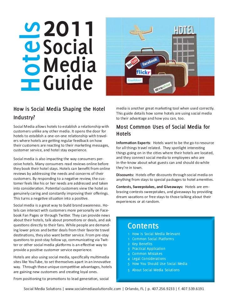 Hotels           2011                 Social                 Media                 GuideHowisSocialMediaShapingtheHo...