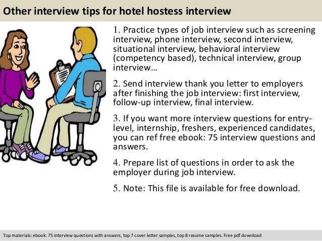 Cover letter for hotel hostess