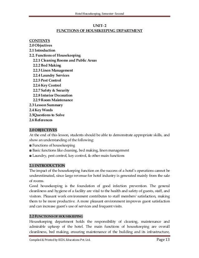 housekeeping and cleaning cover letter