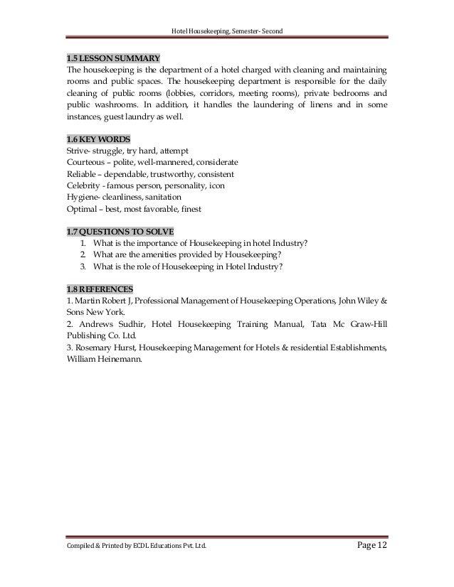 hotel housekeeping rh slideshare net Hotel Housekeeping Procedures Hotel Housekeeping SOP