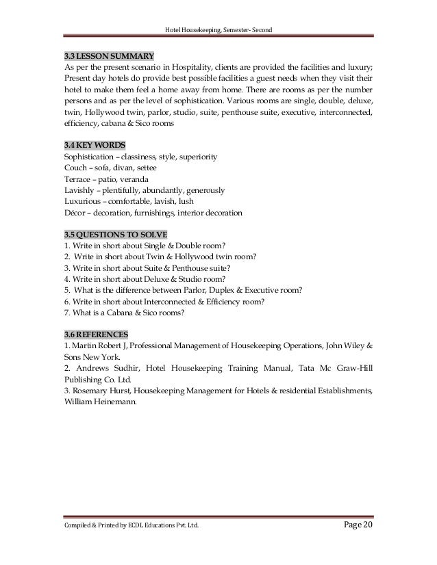 hotel housekeeping rh slideshare net hotel housekeeping operations manual pdf Hotel Housekeeping SOP