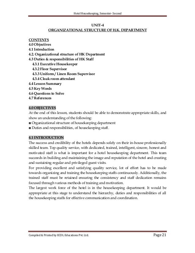 21 hotel housekeeping. Resume Example. Resume CV Cover Letter