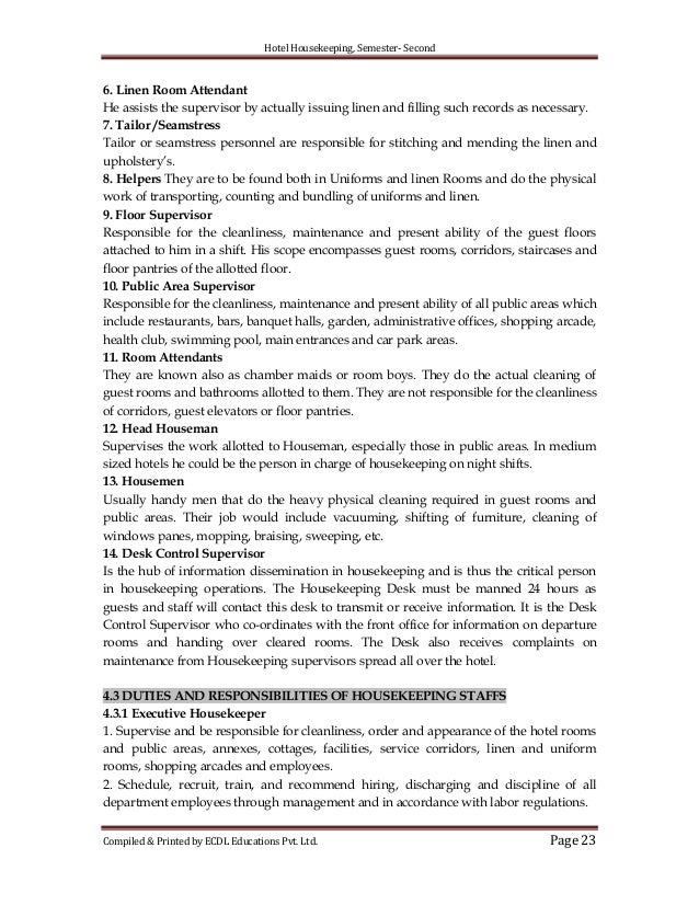 23 hotel housekeeping. Resume Example. Resume CV Cover Letter