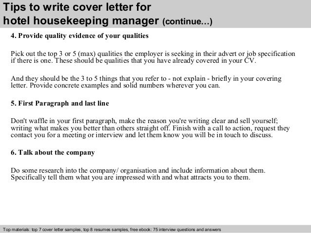 hotel housekeeping manager cover letter 12. Resume Example. Resume CV Cover Letter