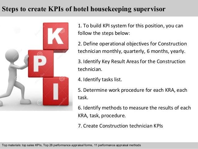 Hotel housekeeping supervisor kpi